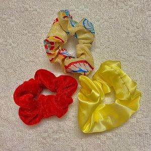 Red and Yellow Set 3pc Srunchie
